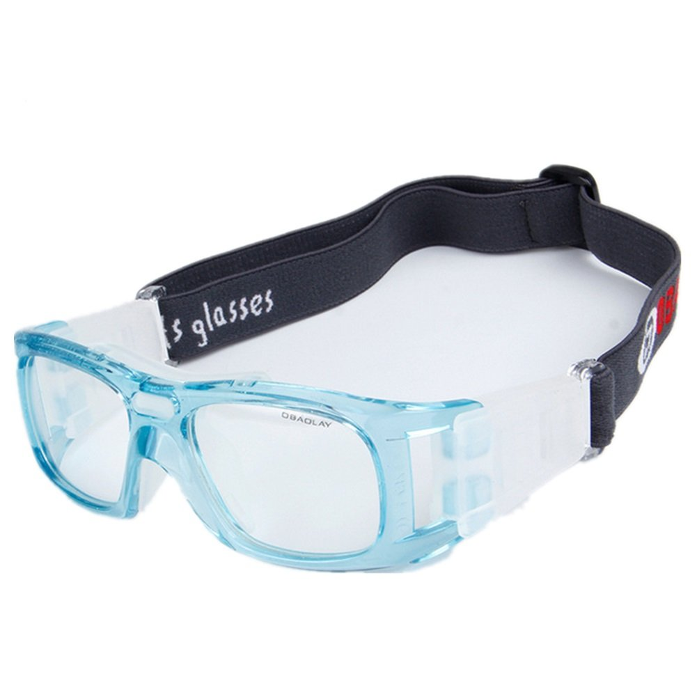 Wonzone Basketball Goggles, Sports Protective Safety Eyewear, Unisex Men Women Youth Glasses for Football Volleyball Hockey Rugby (Light Blue) by Wonzone