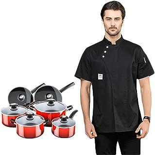 lioyt Divisa da Cuoco a Maniche Corte, Cucina Estiva Unisex, Ristorante Occidentale, Divisa Professionale