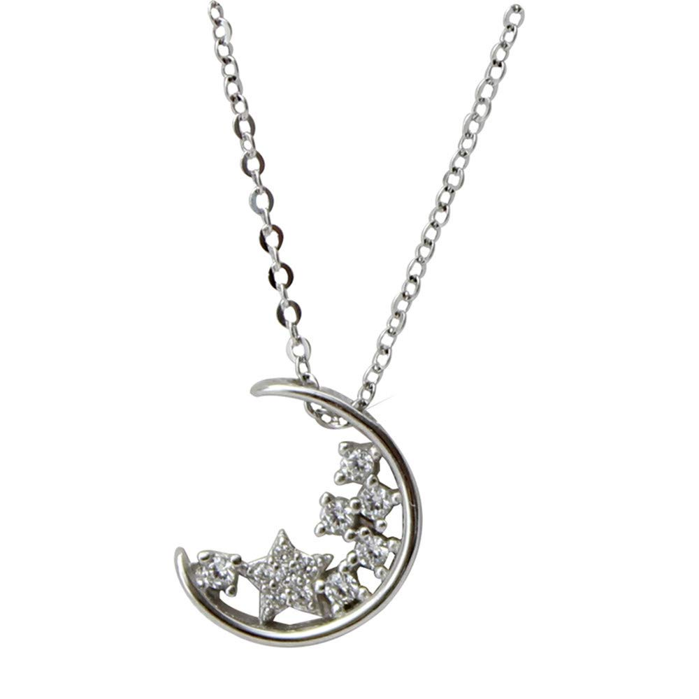 KOMO Women 925 Sterling Silver Fashion Pendants Necklace Personality Creative Exquisite Clavicle Chain Necklace