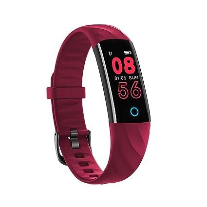 SoloKing SK50 Pulsera de Actividad IP68 Impermeable Reloj Cuenta Pasos,Monitorización de Ritmo Cardíaco/