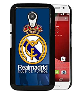 Popular Custom Designed Cover Case With RealMadrid Black For Motorola Moto G 2nd Generation Phone Case