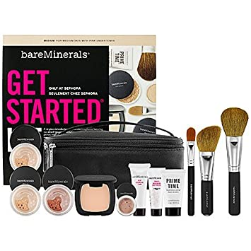 Bare Escentuals bareMinerals Get Started Kit FAIRLY LIGHT For Porcelain – To Light Skin With Neutral Undertones Limied Edition 10 Piece Makeup Collection 186 VALUE