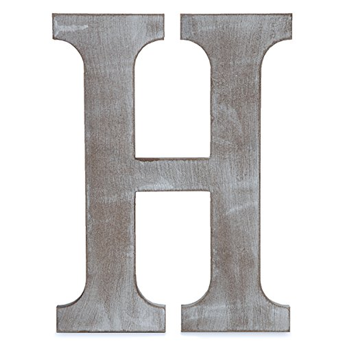 Clover Letters - The Lucky Clover Trading H Wood Block Letter, 14