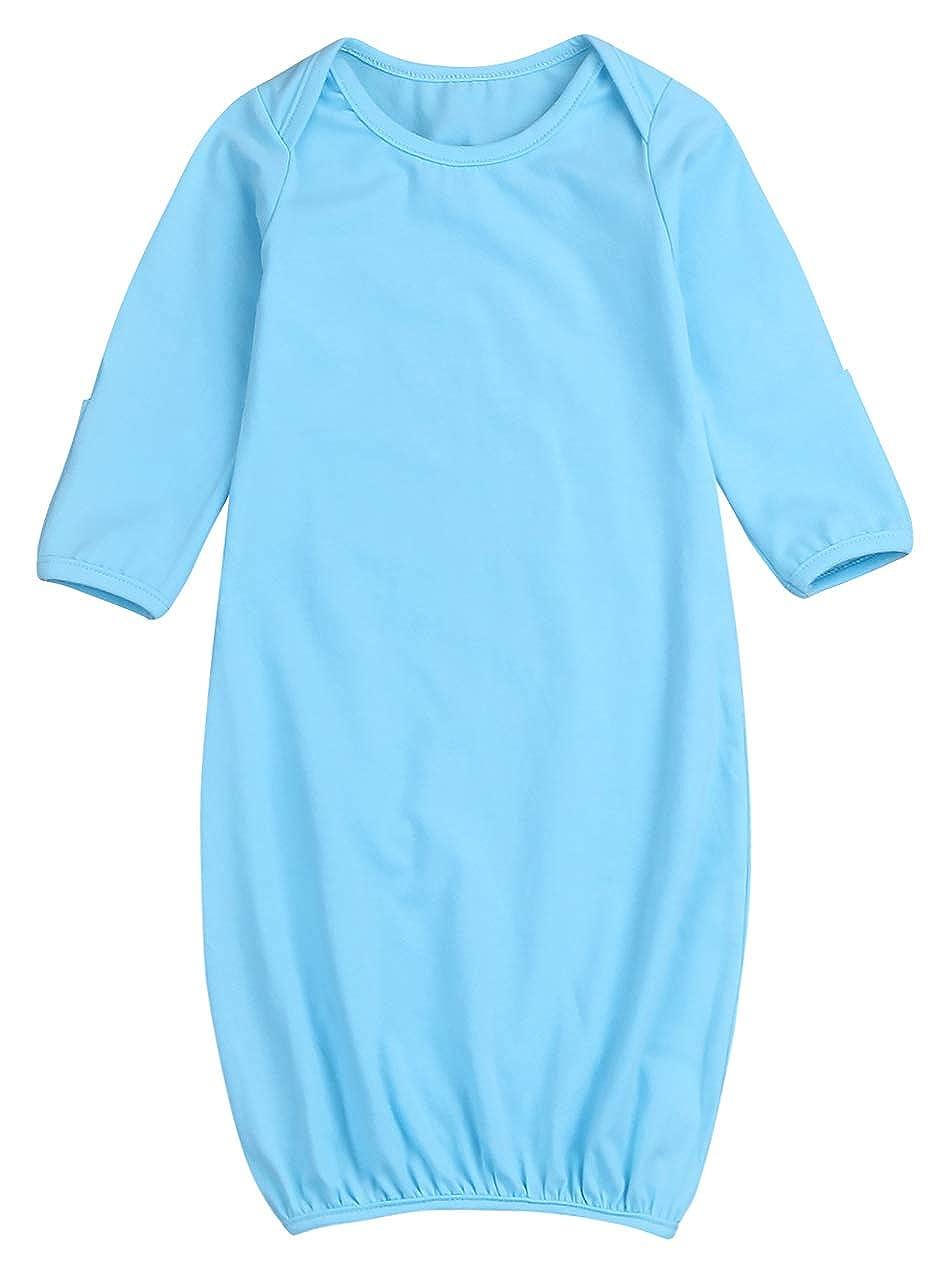 Baby Boys Girls Sleepwear Cotton NightgownSwaddle Sack Outfit Long Sleeve Sleeping Bag Sleeper Gowns