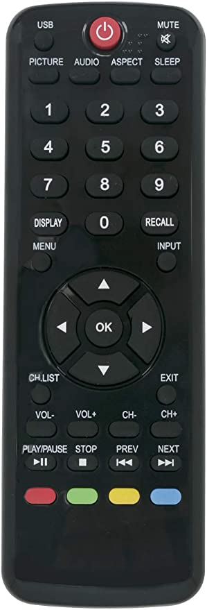 MYHGRC New Replacement Remote Control Fit for Sony,//TCL//Hisense//JVC//RCA//Sharp//Sanyo//Toshiba//Hitachi No setup required TV Universal Remote Control