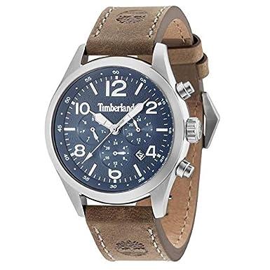 Timberland Reloj Multiesfera para Hombre de Cuarzo con Correa en Cuero 15249JS/03: Amazon.es: Relojes