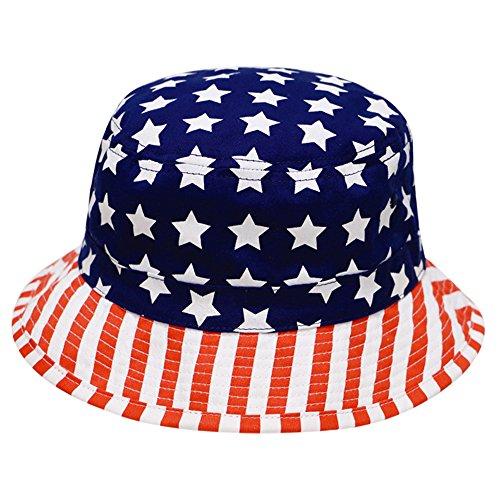 [City Hunter Bd1220 American Flag U.S.A Bucket Hats] (Hats 4 U)