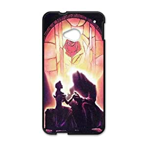 HTC One M7 Cell Phone Case Black ac45 beauty and the beast disney art illust JNR2006130