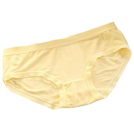 Ropa interior, YanHoo Sencillo Ropa interior de fibra de bambú calzoncillos Mujeres cómodas bragas sin