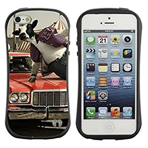 High quality Case for Apple iPhone 5c 5c Abstract Cow Jumping Kimberly Kurzendoerfer