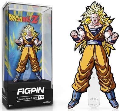 FiGPiN Super Saiyan 3 Goku Collectible Pin with Premium Display Case