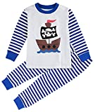 Mombebe Boys Kids Pirate Pyjamas Set Long Sleeve Sleepwear (3T, Pirate)
