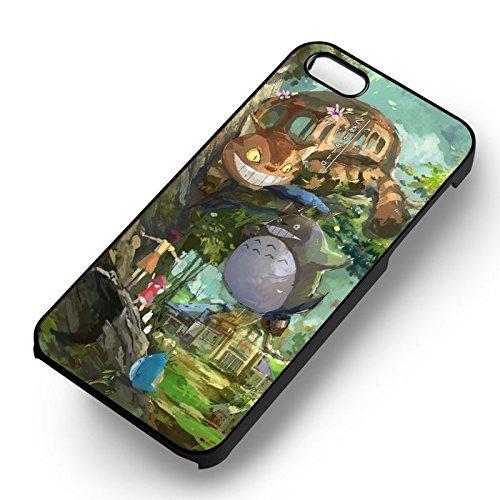 Totoro Kawaii My Neighbor pour Coque Iphone 6 et Coque Iphone 6s Case (Noir Boîtier en plastique dur) B1M1FU
