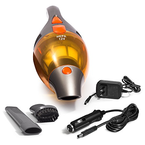 Kensun Portable AC/DC Rechargeable Car Vacuum Cleaner