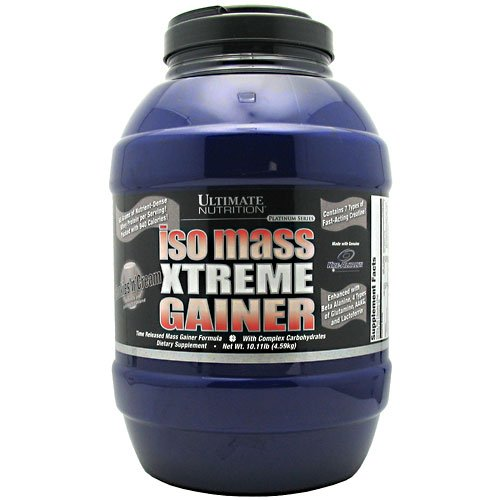 Iso Mass Xtreme Gainer - Time Released Mass Gainer Formula Cookies 'n' Cream 10.11 lbs