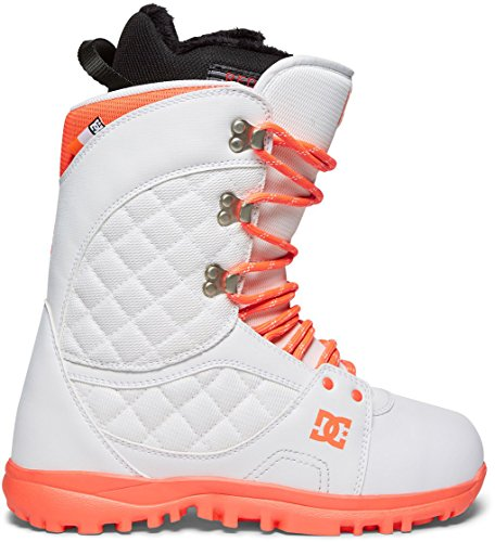 (DC Women's Karma Lace Up Snowboard Boots, White,)