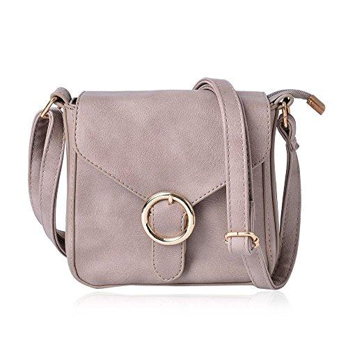 Small Size Crossbody Bag Adjustable Shoulder Strap 18x18x5 Cm Grey