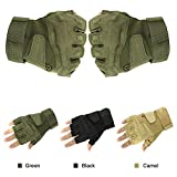 Sports Outdoors Best Deals - Easy Lifestyles Outdoor Sports Military Half-finger Fingerless Tactical Airsoft Hunting Riding Cycling Gloves Black Green Camel Available (Navy Blue)