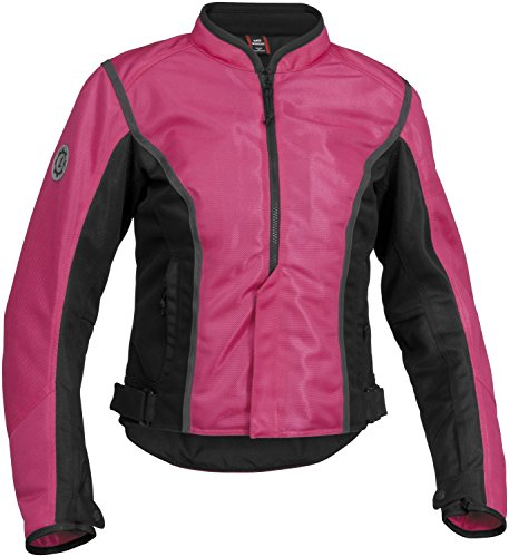 Firstgear Women's Contour Mesh Pink/Black Jacket, (Firstgear Womens Contour Mesh Jacket)