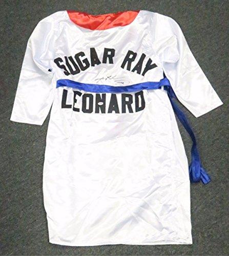 Sugar Ray Leonard Signed Boxing Robe AUTO Autograph XXL PSA/DNA COA HOF ()