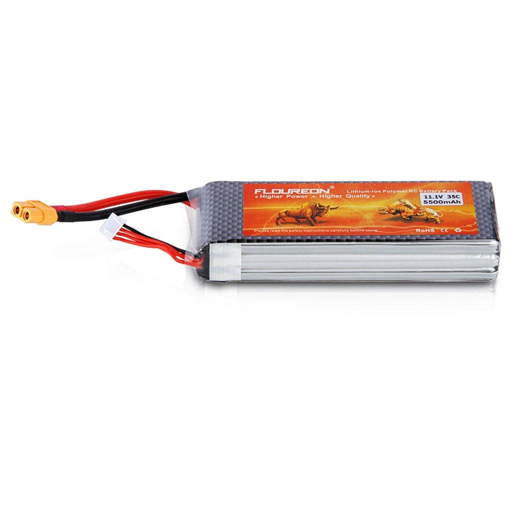 FLOUREON 3S1P 11.1V 4000mAh 25C RC Batterie Akku Deans Plug Für Flugzeuge Neu