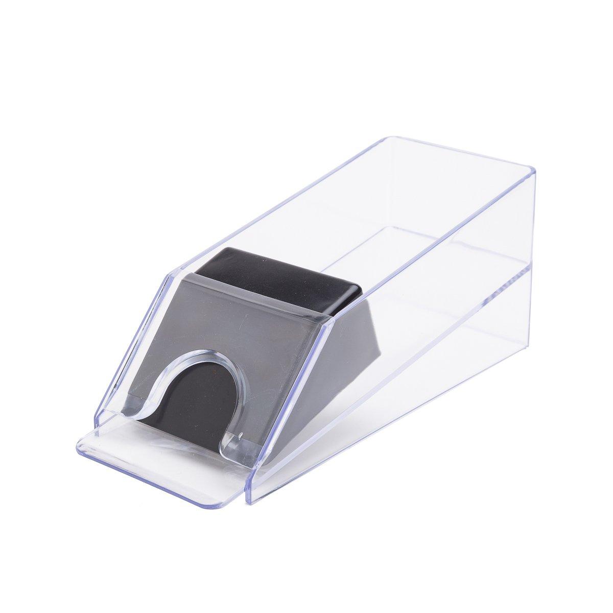 THY COLLECTIBLES 1-4 Deck Deluxe Acrylic Card Dealing Shoe For Poker/Blackjack/Casino Card Games