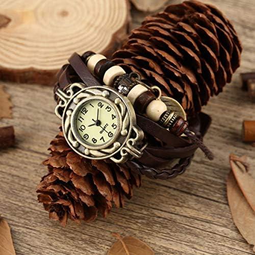 1 Pcs Watch Leaf Bracelet Watch Quartz Movement Wrist Watch Girl Women Drop Shipping Wholesale-Coffee