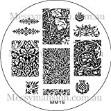MESSY MANSION MM16 Nail Art Stamping Plate - William Morris and Friends