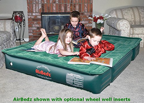 AirBedz Lite (PPI PV202C) Full Size Short and Long 6′-8′ Truck Bed Air Mattress with DC Corded Pump (75″x63″x12″ Inflated)