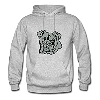 Dorastanl Women Bulldog Painting Sweatshirts (x-large,grey)