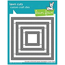 Lawn Fawn Lawn Cuts Craft Die - LF1443 Outside In Stitched Square Stackables