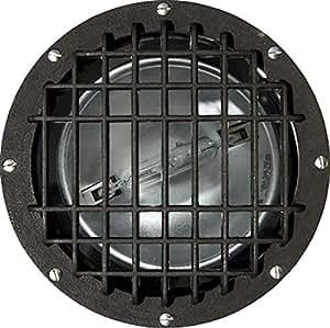Dabmar Lighting FG4390-GRL-MT Fiberglass In-Ground Well Light with Grill, Bronze