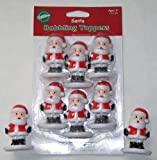 Santa Bobbling Bobble Head Cupcake Toppers by Wilton