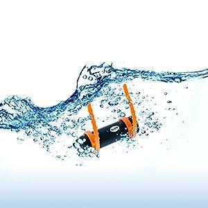 GEARONIC TM 4GB Waterproof Water MP3 Music Player FM Radio Earphone for Underwater Sport Swimming Diving – Black