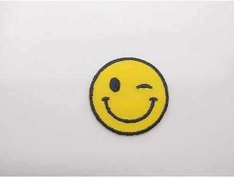 Applicazione Patch Termoadesiva Emoticon Faccina Tondo 3 Cm 075E