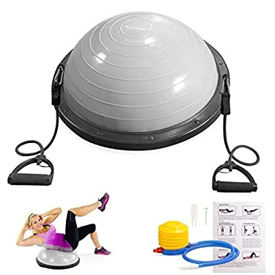 Sportneer Balance Ball Trainer For Yoga Fitness Strength Exercise Workout with Air Pump