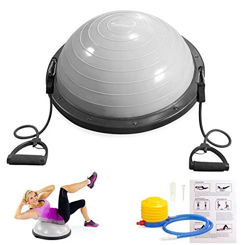 Fantastic Deal! Sportneer Balance Ball Trainer For Yoga Fitness Strength Exercise Workout with Air P...