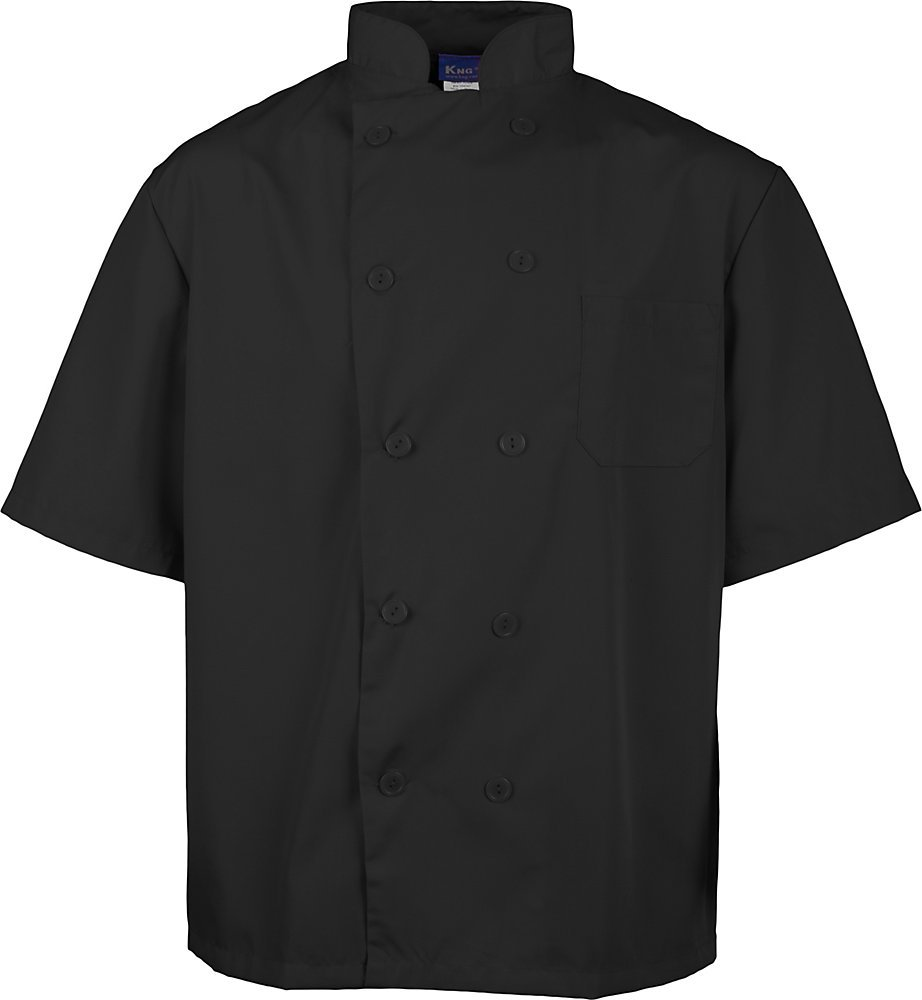 KNG Black Lightweight Short Sleeve Chef Coat by KNG (Image #5)