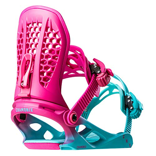 Chamonix Chavanne Ltd Womens Snowboard Bindings Teal Fade Sz M (8+) (Bindings Ltd)