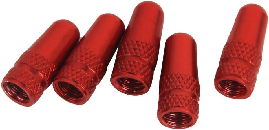5 Piezas de Bicicleta Tapas de Válvulas Aluminio Presta Llantas Neumático Vástago Tapas de Válvulas de Aire Cubierta Anti Polvo Tapones Valvula por SamGreatWorld, Negro