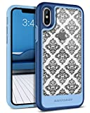 iPhone X Case, iPhone 10 Case, BENTOBEN [Detachable Clear Back] [Support Wireless Charging] 2 in 1 Hybrid Hard PC Flexible TPU Slim Shockproof Protective Phone Case for iPhone X/10 2017, Clear/Blue