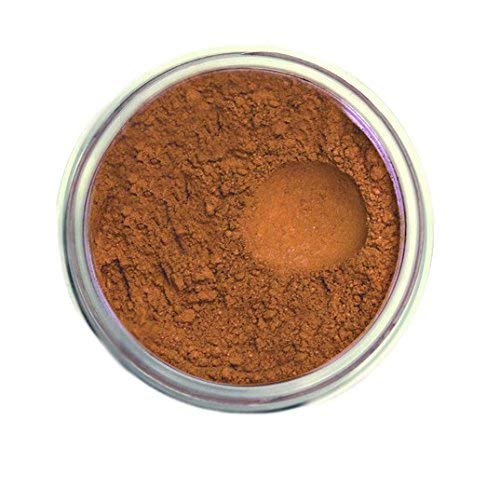 (Bella Terra Mineral Powder Foundation | Long-Lasting All-Day Wear | Buildable Sheer to Full Coverage – Matte | Sensitive Skin Approved | Natural SPF 15 (Chestnut Tan) 9 grams)