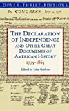 Book cover from The Declaration of Independence and Other Great Documents of American History 1775-1865 (Dover Thrift Editions) by Alexis de Tocqueville