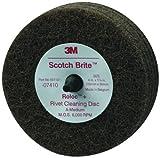 Scotch-Brite(TM) Rivet Cleaning Disc 07410, 4 Diameter x 1-1/4 Thick, Medium Grit (Pack of 10)
