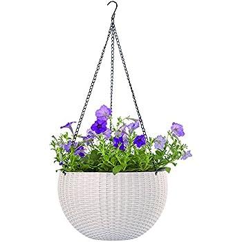 Amazon growers hanging basket indoor outdoor hanging planter growers hanging basket indoor outdoor hanging planter basket 104 inund resin garden workwithnaturefo