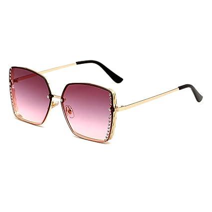YHgiway Gafas de Sol sin Montura de Mujer Cuadrado Oro Marco ...