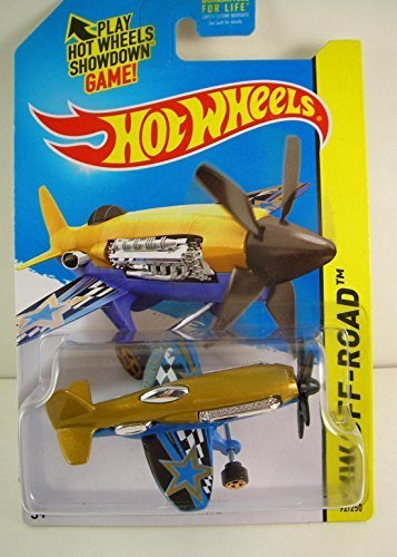 Hot Wheels 2015 HW Off-Road Mad Propz (Airplane) 92/250, Gold and Blue
