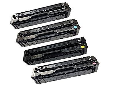 4 PK Value Set CF400A CF401A CF402A CF403A Compatible HP 201A Toner Cartridges for Color LaserJet Pro M252dw M252n MFP M277dw M277n