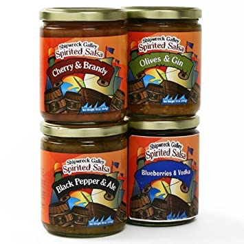 Shipwreck Galley Salsa - Cherry and Brandy (16 ounce)