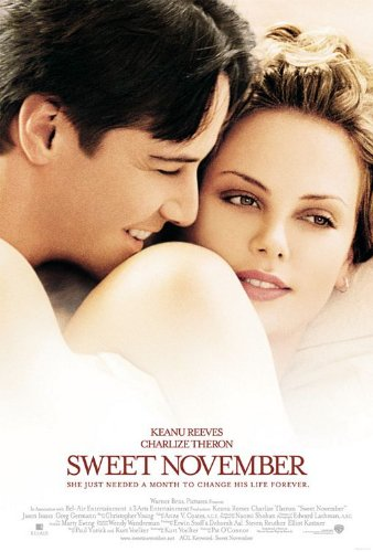 SWEET NOVEMBER (2001) Original Authentic Movie Poster 27x40 - Double - Sided - Keanu Reeves - Charlize Theron - Jason Isaacs - Greg (2001 Sweet)